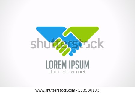 handshake abstract logo vector