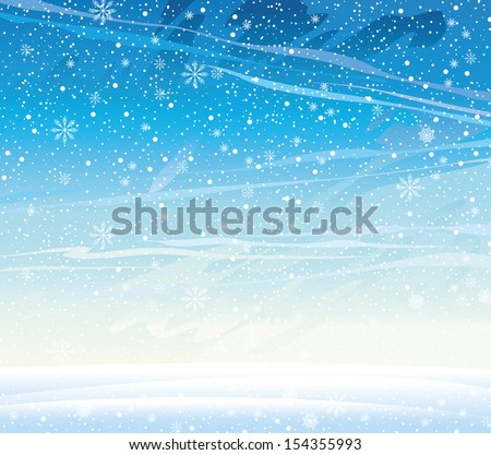 winter nature landscape with
