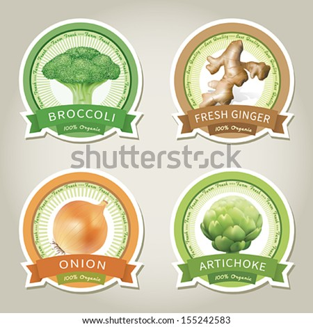 set of vector labels with