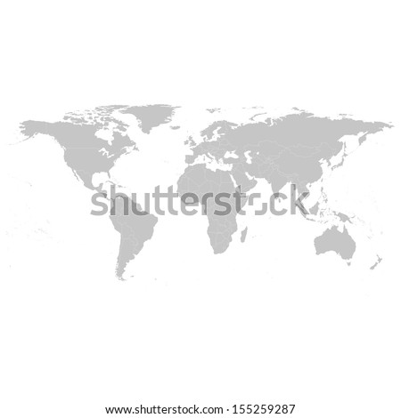 grey political world map