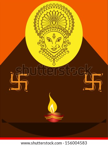 durga diwali greeting
