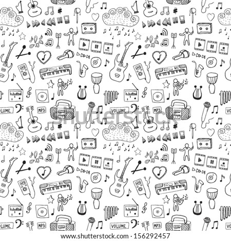 music symbols seamless pattern