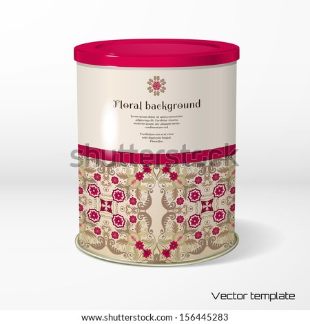 vector object round tin