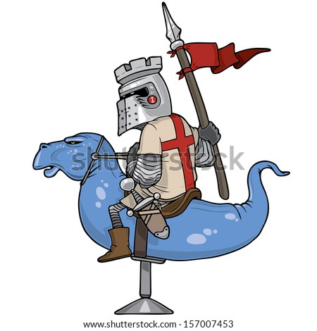 knight riding a mechanical