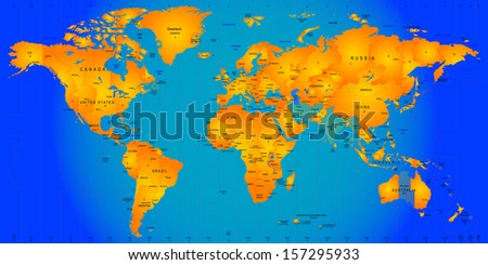 world timezone map vector