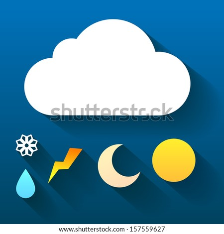weather symbol trendy flat