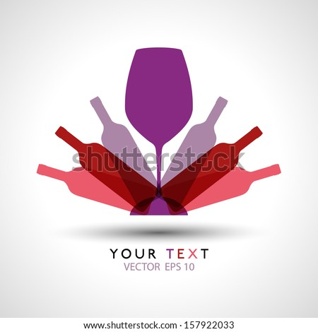 wine glass bottle logo