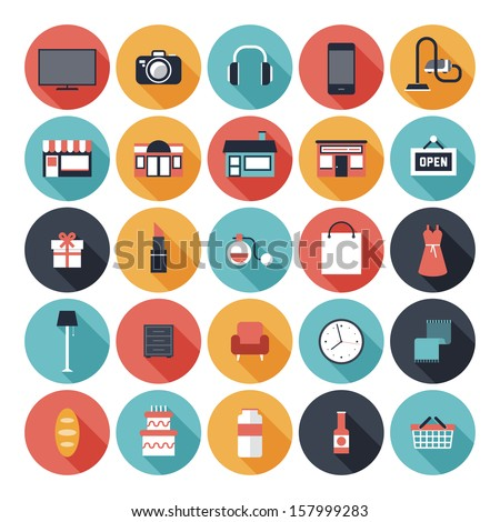 modern flat icons vector set