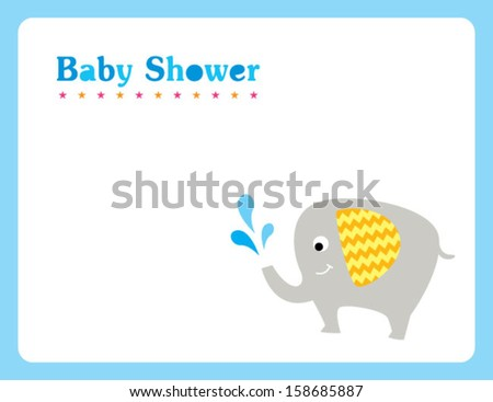 baby elephant shower card