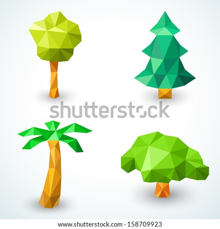 set of polygonal origami tree