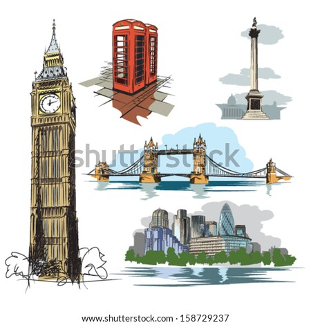 london vector drawings