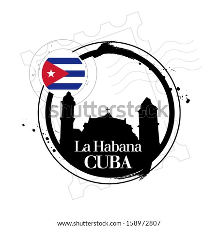 stamp havana  capital of cuba