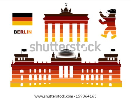 vector graphic symbols of berlin