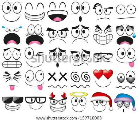 vector cartoon set of thirty