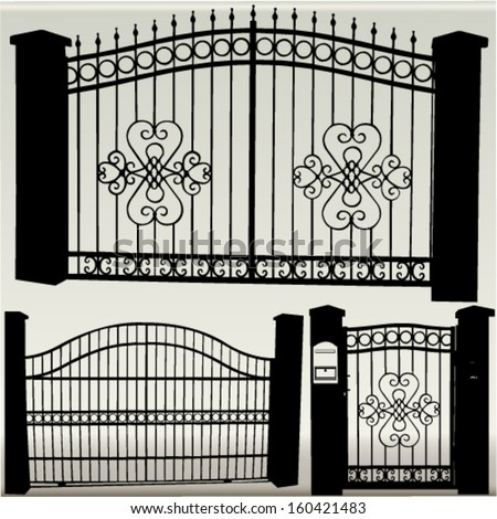 iron gates   vector