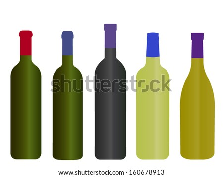 wines of the world empty bottles