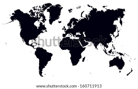 black and white world map