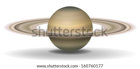 illustration of planet saturn