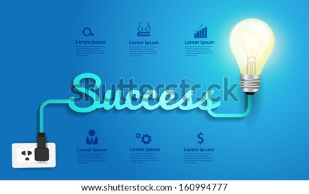 success concept creative modern