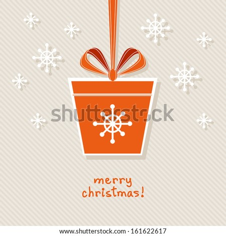 vector christmas gift with red