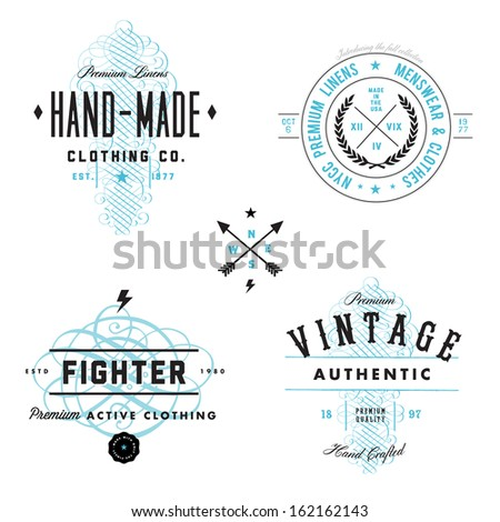 vector vintage badge and label