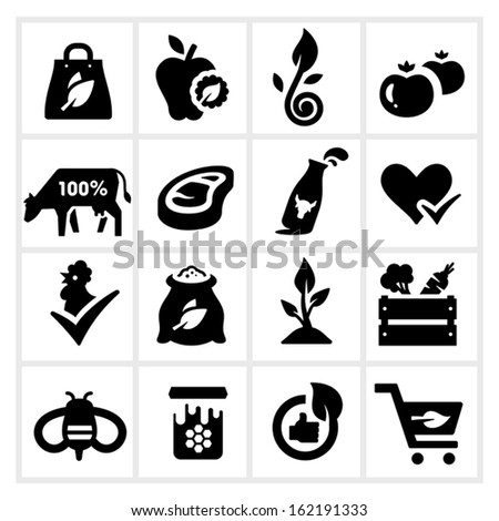 organic food icons  farm