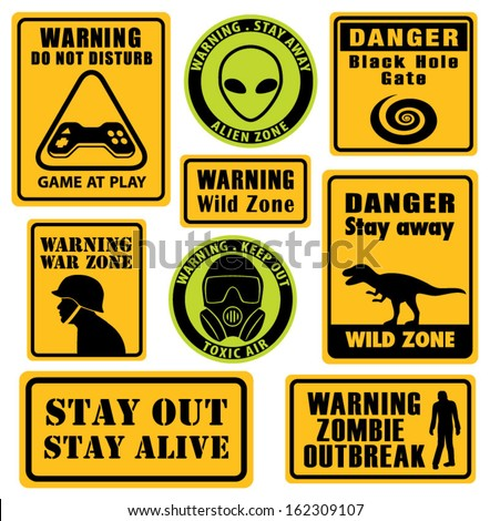 set of unusual warning signs