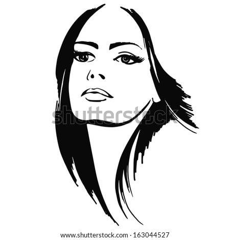 portrait beautiful girl vector
