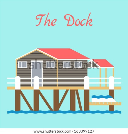 nice dock house out over the