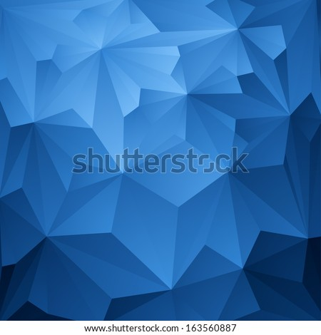 abstract blue triangle
