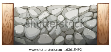 illustration of a stone wall on
