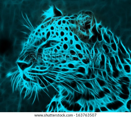 digital drawing of a tiger