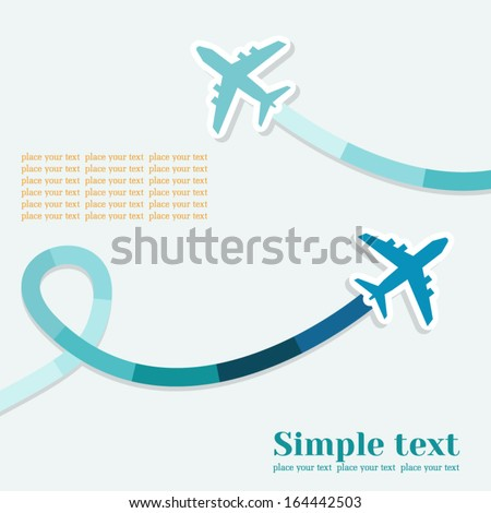 vector background with two jets