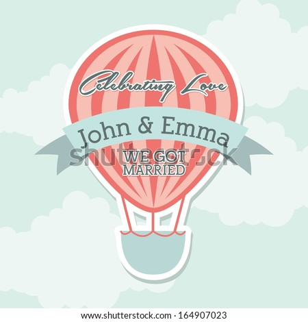 wedding design over sky