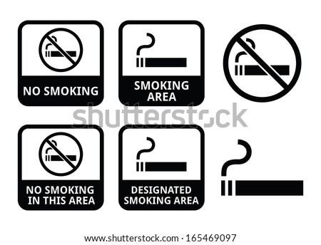 no smoking  smoking area vector