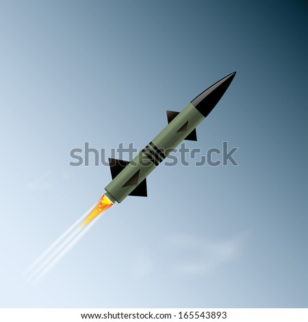 rocket in the sky vector