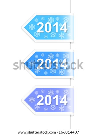 new year 2014 labels vector