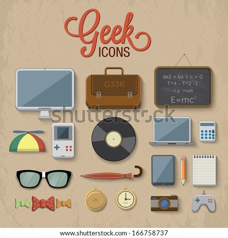 geek accessories vector