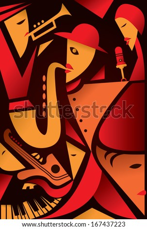 abstract jazz art