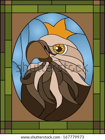 eagle   stained glass window