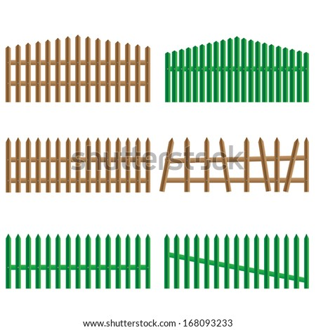 wooden fences  vector