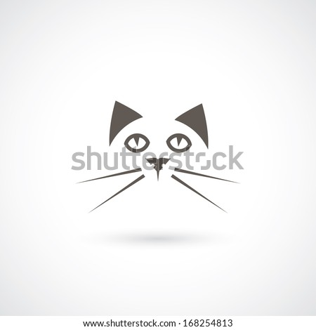 cat face   vector illustration