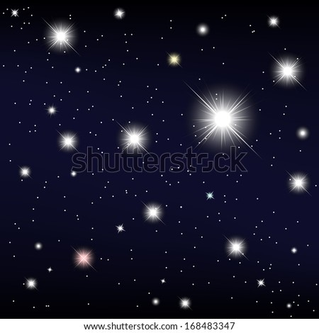 cosmos star in the night sky