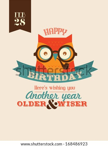 wise as owl birthday greeting