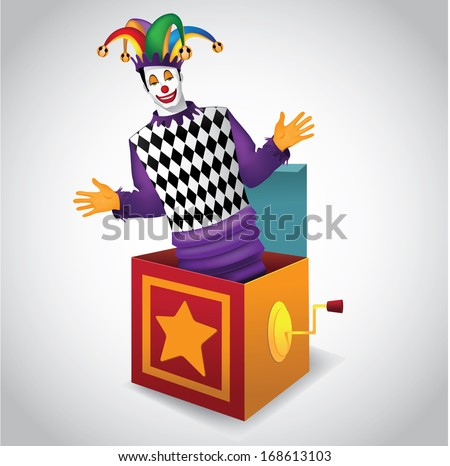jack in the box eps 10 vector
