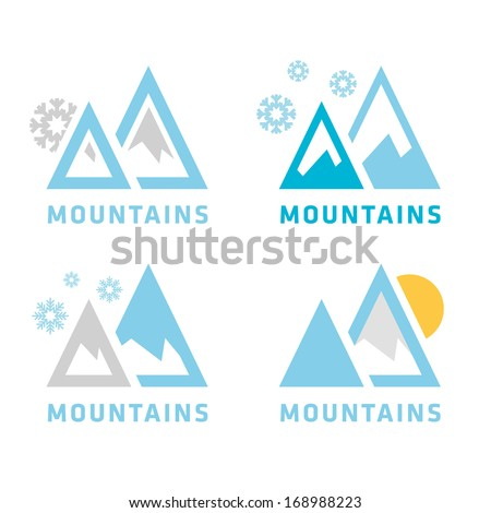 mountain icon collection