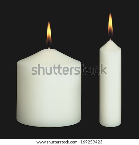 realistic vector candles on