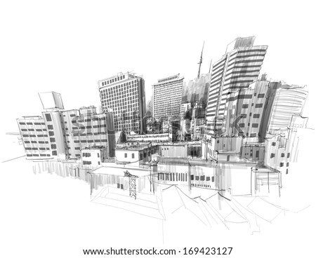 vector city sketching