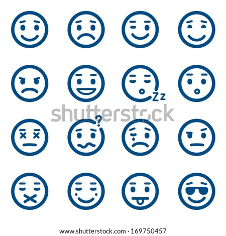set of vector smiley icons