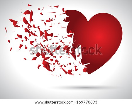 exploding heart background for